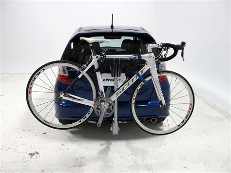 """Now, we already have our bike on the rack. 2008 Honda Fit Thule Helium Aero 2 Bike Rack - 1-1/4"""" and ..."""