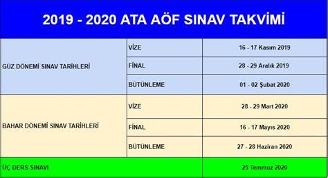 Haber sonunda geldi, ata aöf sınav sonuçları açıklandı! ATA AÖF Akademik Sınav Takvimi 2020 - Vize, Final ve Bütünleme