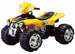 Electric Ride On Motorcycle 4 Wheel For Kids  Yellow  29