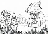 Coloring Gnome Garden Pages Printable Fairy Clip Adults Gardening Preschool Colouring Gnomes Mushroom Sheets Rocks Drawing Adult Printables Draw Worksheet sketch template