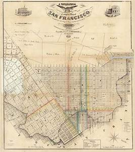 San Francisco 1852 Eddy - Old Map Reprint