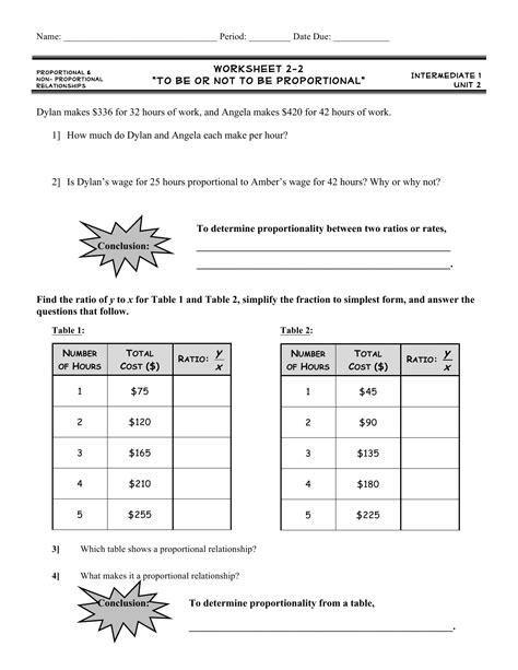 Proportional And Nonproportional Relationships Worksheet Answers Livinghealthybulletin