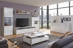 Bilder Mit Rahmen Für Wohnzimmer : lowboard mit highboard travis 15 wei hochglanz tv m bel ~ Lizthompson.info Haus und Dekorationen