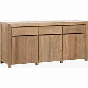 Buffet En Teck : buffet en teck recycl bross drift 3 portes 3 tiroirs ~ Teatrodelosmanantiales.com Idées de Décoration