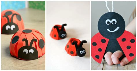 lovely ladybug crafts  preschoolers  abcs  acts