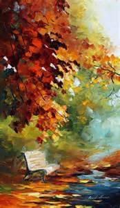 Leonid Afremov Autumn Painting