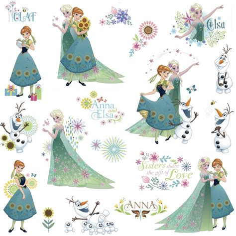 sticker mural la reine des neiges disney frozen 19 stickers great kidsbedrooms the children bedroom specialist