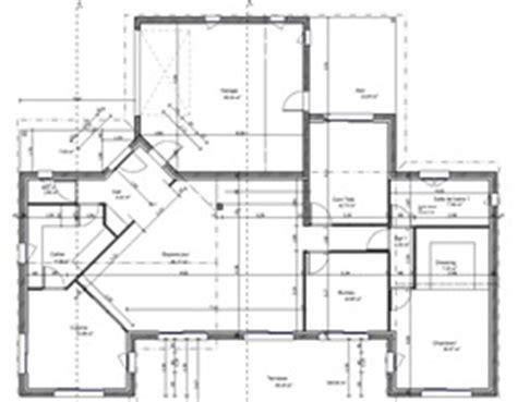 plan maison moderne 160m2 menuiserie