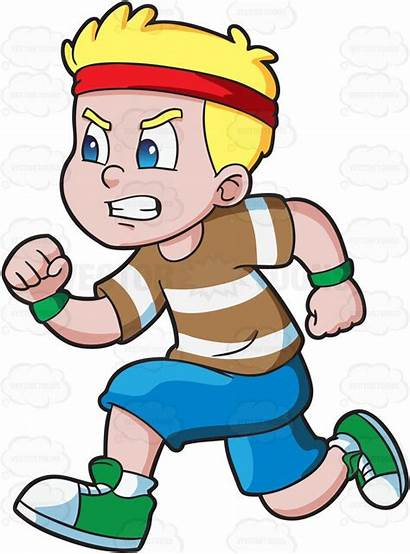 Running Cartoon Boy Clipart Athletics Fast Race