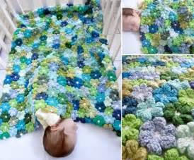 Crochet Flower Baby Blanket Pattern