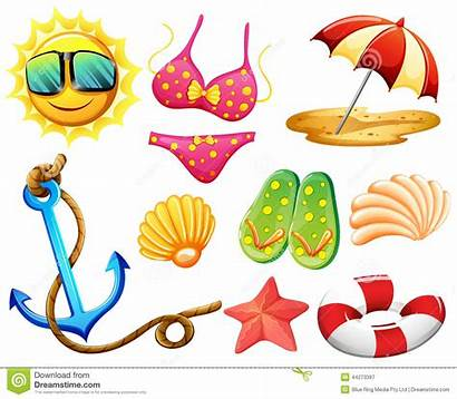 Things Summer Different During Beach Illustration Vector