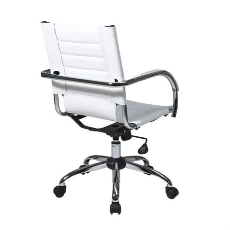 white office chair ergonomic ergonomic leather office chair in white tnd941a wh