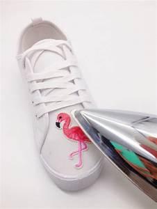 Bügelbild Selber Machen : upcycling ideen f r kleidung schuhe mit flamingo patches ~ Watch28wear.com Haus und Dekorationen