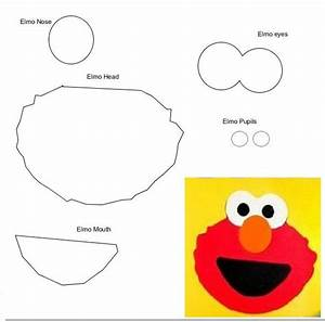 sesame street party masks sesame street party party With elmo template for cake