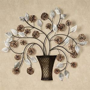 brown metal flower wall art home design ideas With kitchen cabinets lowes with red flower metal wall art