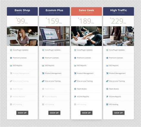 Divi Pricing Divi Custom Pricing Tables With Images And Font Awesome 5
