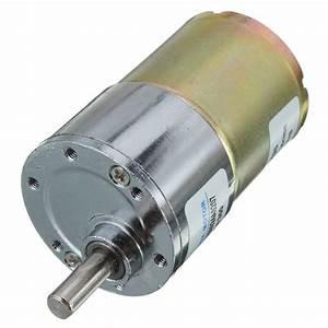 Zhengk 12v Dc 300 Rpm 37gb High Torque Gearbox Electric