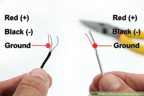 Guitar Input Wiring White Wire Positive by How To Make Your Own Aux Cable 7 Steps With Pictures