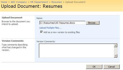 Upload Resume To Docs by What Is Document Library And How To Create Document Library Sharepoint Exles And Tutorials