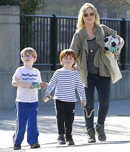 Amy Poehler on a soccer outing with sons she had with ex ...