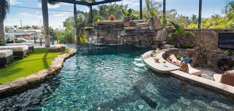 island bar for kitchen a lazy river runs through it custom pool on pine island