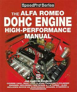 Alfa Romeo Dohc Engine Manual Book High Performance Shop Spider Service Repair