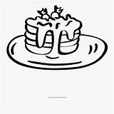 Coloring Pancakes Clipart Clipartkey sketch template