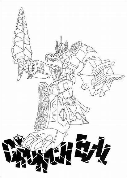 Rangers Coloring Power Megazord Pages Ranger Sheets
