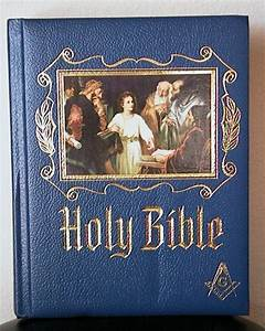 vintage masonic holy bible red letter edition heirloom blue w With masonic bible red letter edition