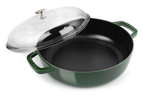 staub universal pan  domed glass lid  quart basil cutlery