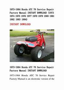 1973 1984 Honda Atc 70 Service Repair Factory Manual