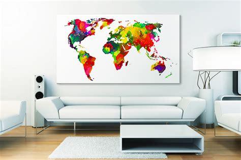 toile carte du monde tableau carte du monde mappemonde d 233 co et planisph 232 re izoa