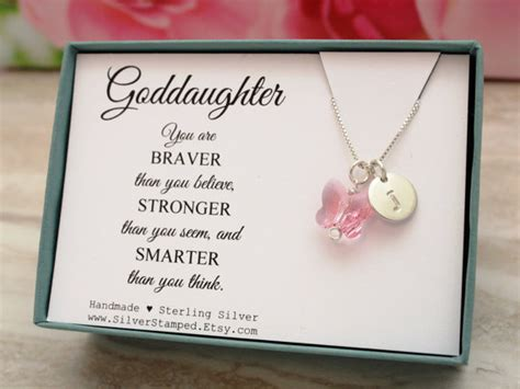 goddaughter gift for god daughter necklace by silversted