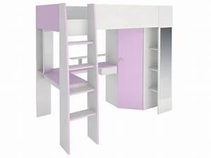 Lit Bureau Enfant : lit mezzanine gemma 90x200cm bureau avec sans sans matelas ~ Teatrodelosmanantiales.com Idées de Décoration