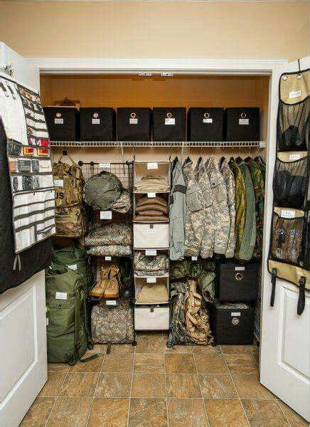 witch craft  military closet stays  organized
