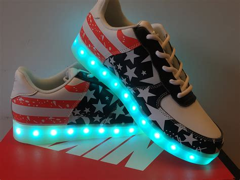 New Nike Light Up Shoes by Nike Air 1 Low Light Up Independence Day American