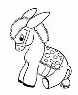 Donkey Coloring Pages Baby Printable Sheets Animal Burro Printables sketch template