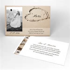 remerciement mariage carte de remerciement mariage produit à personnaliser page 1 faire part