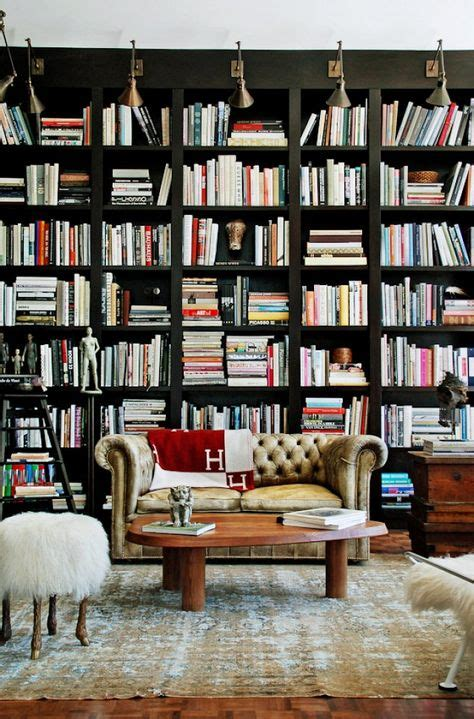 inspired design black bookcases home libraries