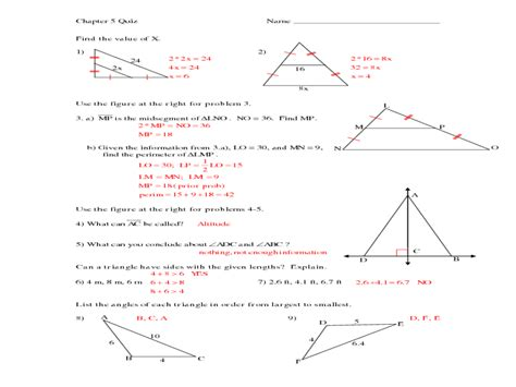 triangle midsegment worksheet free worksheets library