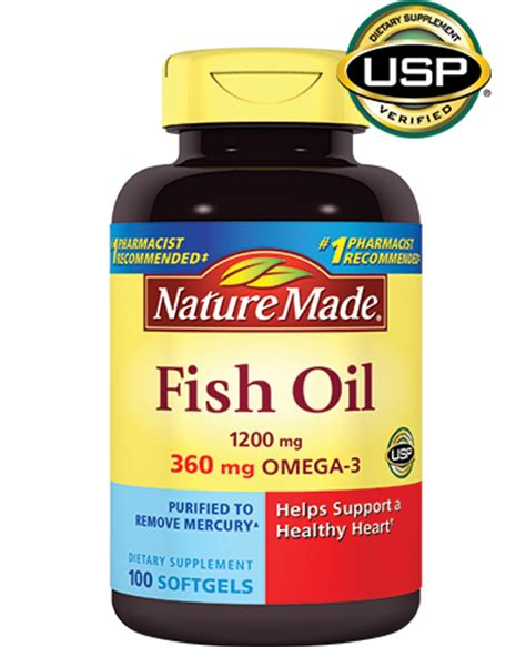 Fish Oil 1200mg Supplement  Nature Made®