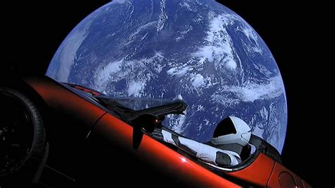 Elon Musk Launches Tesla Roadster Into Outer Space