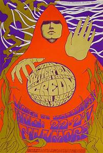 Cream Poster from Fillmore Auditorium, Aug 22, 1967 at ...