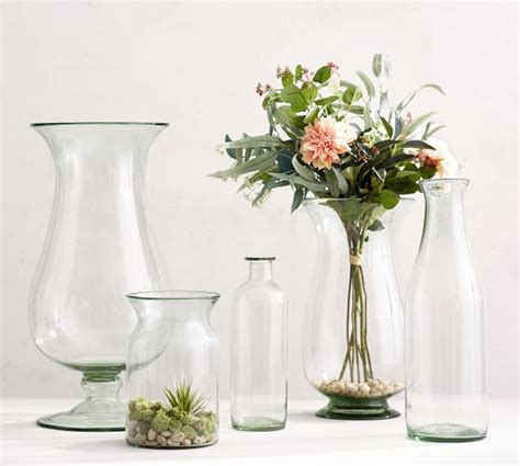 recycled glass vases pottery barn