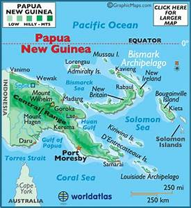 Papua New Guinea Landforms and Land Statistics