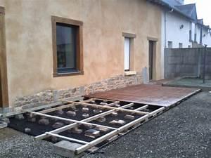 Geotextile Sous Gravier : pose terrasse bois sur gravier geotextile gravier r ~ Premium-room.com Idées de Décoration