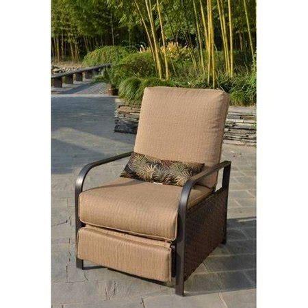 Recliner Chair Walmart by Mainstays Woven Wicker Outdoor Recliner With Beige