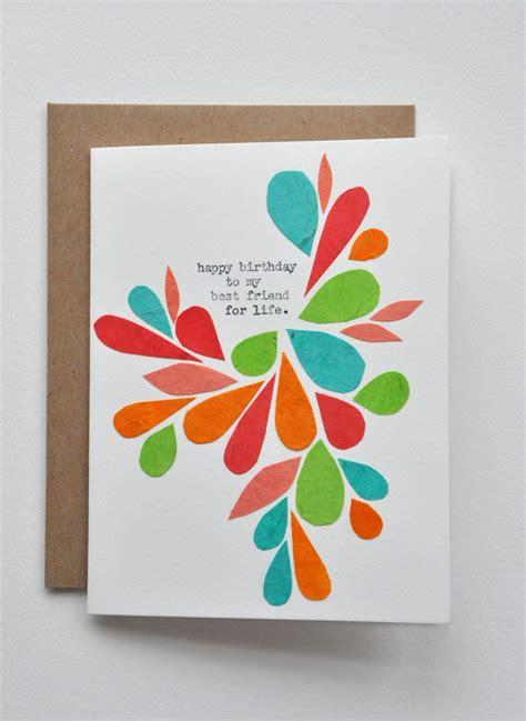 happy birthday birthday card  friend handmade