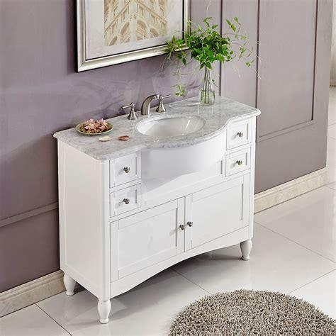 45 Inch Single Sink Contemporary White Bathroom Vanity