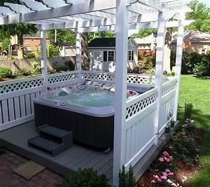 den garten mit einem coolen whirlpool gestalten With whirlpool garten mit jacuzzi auf balkon
